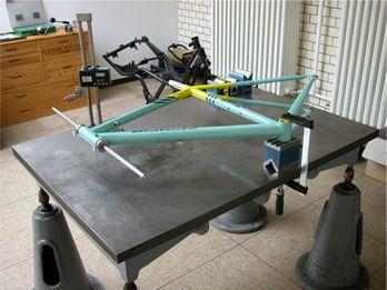Rahmenvermessung des Fahrrads